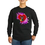 3D Mousey Valentine Long Sleeve Dark T-Shirt