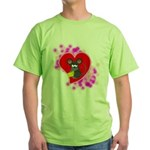 3D Mousey Valentine Green T-Shirt