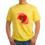3D Mousey Valentine Yellow T-Shirt