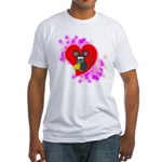 3D Mousey Valentine Fitted T-Shirt