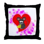 3D Mousey Valentine Throw Pillow