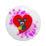 3D Mousey Valentine Ornament (Round)