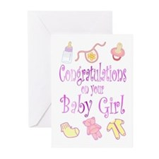 Congratulations Baby Girl Greeting Cards (Pk of 20