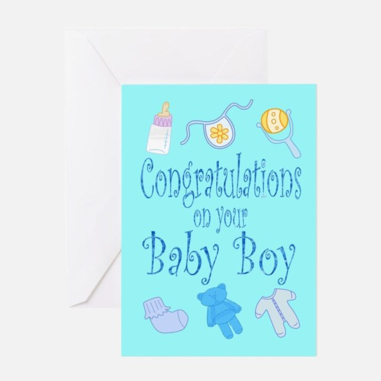 Congratulations Baby Boy Greeting Card