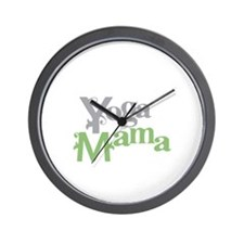 Yoga Mama Wall Clock