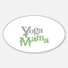 Yoga Mama Oval Decal