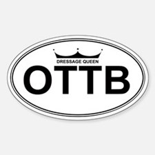 OTTB Dressage Queen Oval Decal