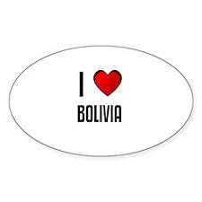 I LOVE BOLIVIA Oval Decal
