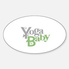Yoga Baby Oval Decal