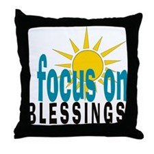 Focus on Blessings Throw Pillow