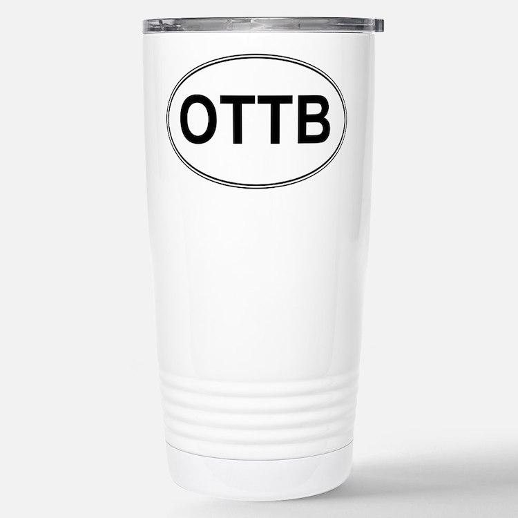 OTTB oval sticker Travel Mug
