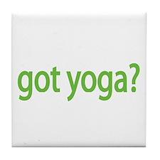 got yoga? Tile Coaster
