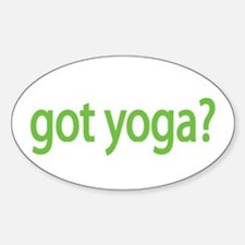 got yoga? Oval Decal