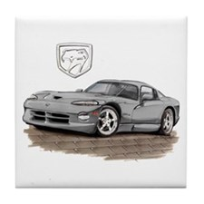 Viper Silver Car Tile Coaster