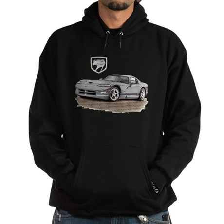 Viper Silver Car Hoodie (dark)