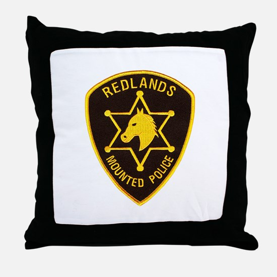 Redlands Mounted Posse Throw Pillow