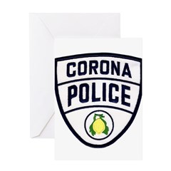 Corona Police Greeting Card
