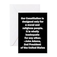 John Adams Quote Greeting Card