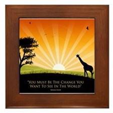 Ghandi Quote Framed Tile