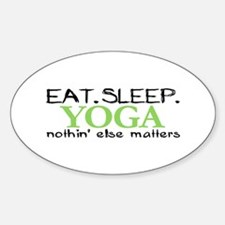 Eat Sleep Yoga Oval Decal