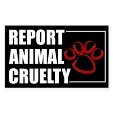 Report Cruelty Decal