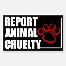 Report Cruelty Decal