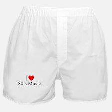 """I Love (Heart) 80's Music"" Boxer Shorts"