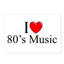 """""""I Love (Heart) 80's Music"""" Postcards (Package of"""