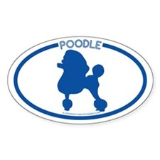 """Poodle"" - Oval Decal"