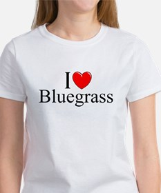 """I Love (Heart) Bluegrass"" Women's T-Shirt"