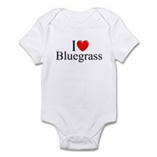 """I Love (Heart) Bluegrass"" Infant Bodysuit"