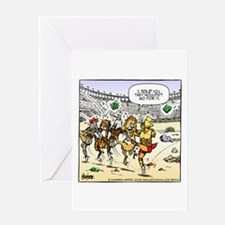 Gladiator's Cancan Greeting Card
