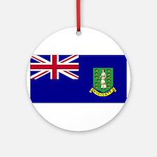 British Virgin Island Ornament (Round)