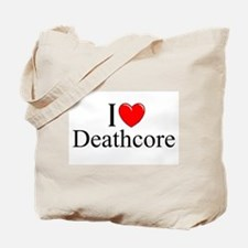 """I Love (Heart) Deathcore"" Tote Bag"