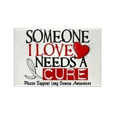 Needs A Cure LUNG CANCER Rectangle Magnet