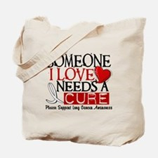 Needs A Cure LUNG CANCER Tote Bag