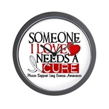 Needs A Cure LUNG CANCER Wall Clock