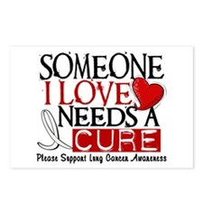Needs A Cure LUNG CANCER Postcards (Package of 8)