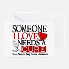 Needs A Cure LUNG CANCER Greeting Card