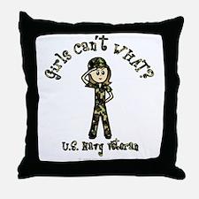 Light Navy Veteran Throw Pillow