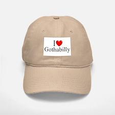 """I Love (Heart) Gothabilly"" Baseball Baseball Cap"