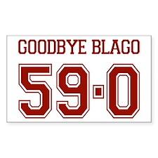 Goodbye Blago 59-0 Rectangle Decal