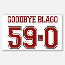 Goodbye Blago 59-0 Rectangle Decal