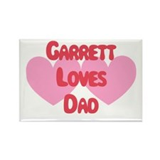 Garrett Loves Dad Rectangle Magnet