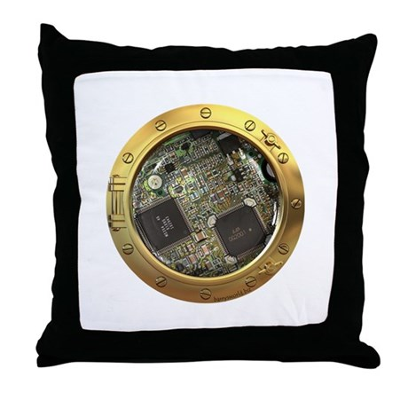 Circuitry Porthole Throw Pillow