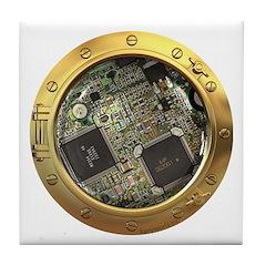 Circuitry Porthole Tile Coaster