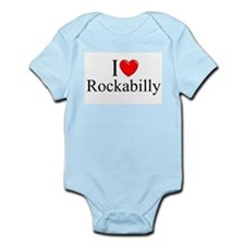 """I Love (Heart) Rockabilly"" Infant Bodysuit"