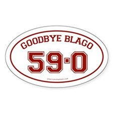Goodbye Blago 59-0 Oval Decal
