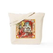 Vintage Sewing Machine Print Tote Bag