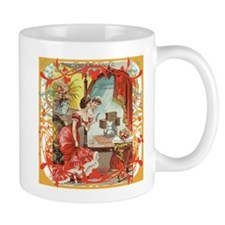Vintage Sewing Machine Print Mug